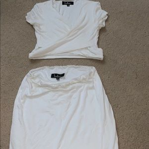 White set skirt and top never worn!